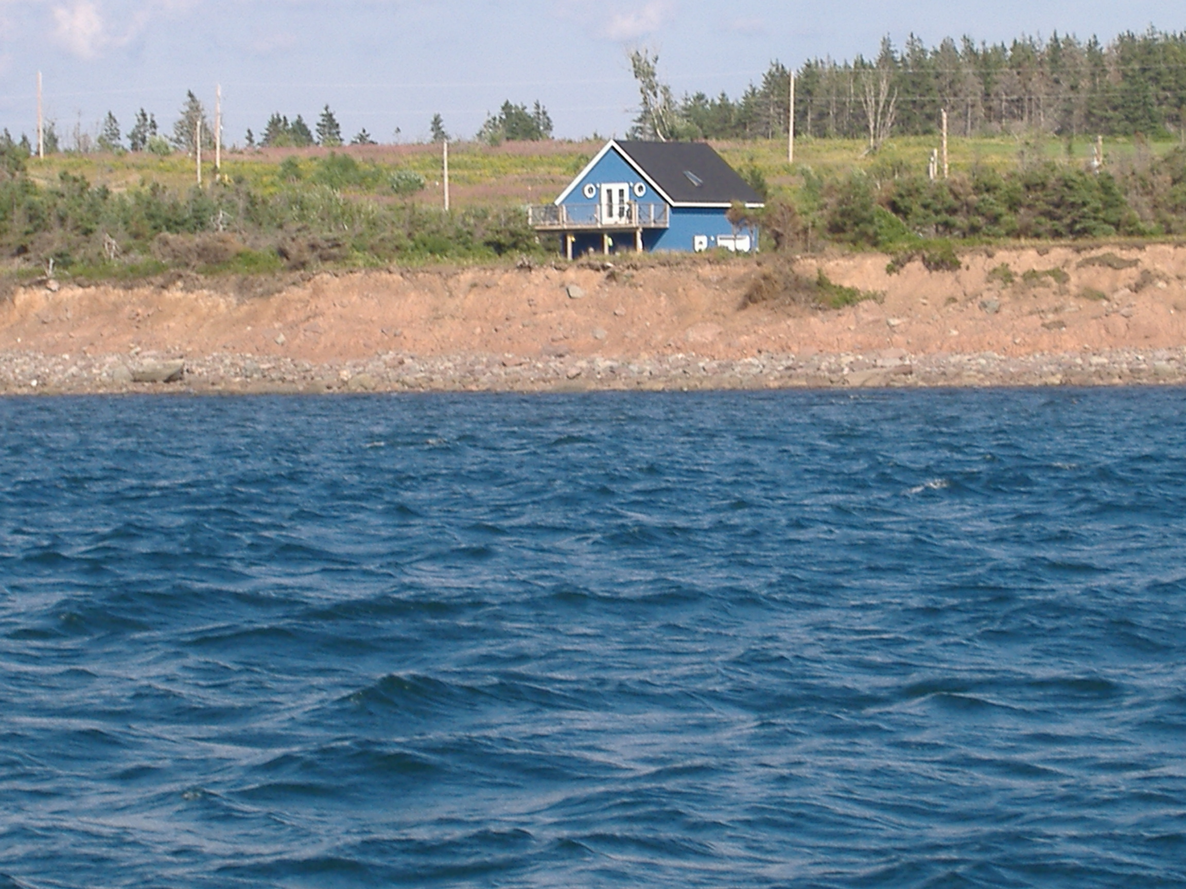 Cottage on the shorline